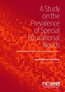 A Study on the Prevalence of Special Educational Needs
