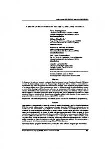 A STUDY ON THE UNIVERSAL ACCESS TO VACCINES IN ... - Scielo.br