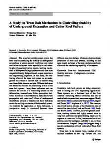 A Study on Truss Bolt Mechanism in Controlling ... - Springer Link