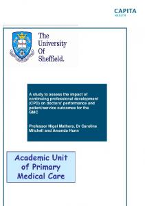 A study to assess the impact of continuing professional ... - GMC