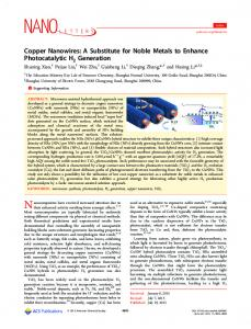 A Substitute for Noble Metals to Enhance ... - ACS Publications