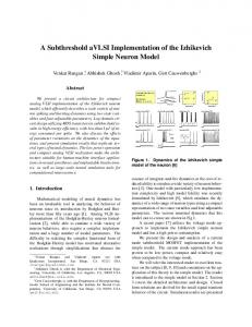 A Subthreshold aVLSI Implementation of the Izhikevich Simple Neuron ...