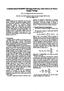 A Subthreshold MOSFET Bandgap Reference with ...
