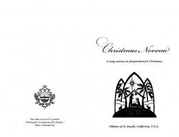 a sung Christmas novena in preparation for ... - Mount St. Joseph