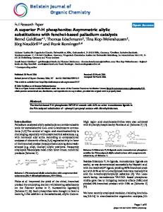 A superior PH phosphonite: Asymmetric allylic substitutions with