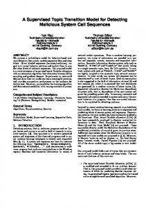 A Supervised Topic Transition Model for Detecting ... - Semantic Scholar