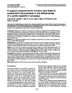 A support programme for primary care leads to ... - Oxford Journals