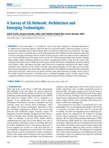 A Survey of 5G Network: Architecture and Emerging ... - IEEE Xplore