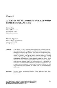 A SURVEY OF ALGORITHMS FOR KEYWORD SEARCH ON GRAPH ...
