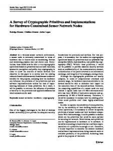 A Survey of Cryptographic Primitives and ... - Springer Link
