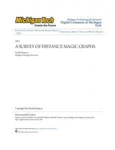 a survey of distance magic graphs - Digital Commons @ Michigan Tech
