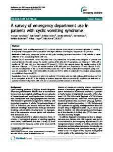 A survey of emergency department use in patients