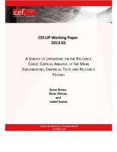 A survey of literature on the resource curse - Cef.up