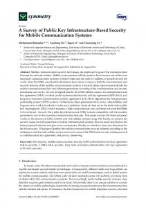 A Survey of Public Key Infrastructure-Based Security for Mobile ... - MDPI
