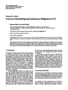 A Survey of Scheduling and Interference Mitigation in LTE