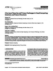A Survey of Security and Privacy Challenges in Cloud Computing ...