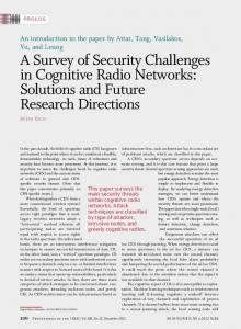 A Survey of Security Challenges in Cognitive Radio ... - IEEE Xplore