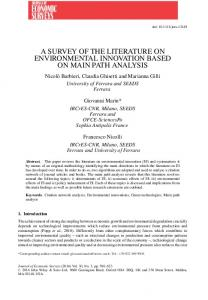 a survey of the literature on environmental ... - Wiley Online Library