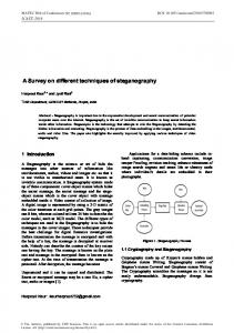 A Review on the Various Recent Steganography Techniques