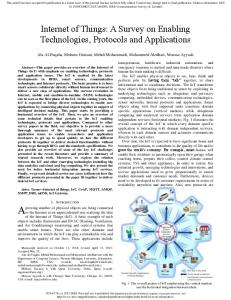 A Survey on Enabling Technologies, Protocols and ...
