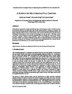 a survey on multimedia file carving - Aircc Digital Library