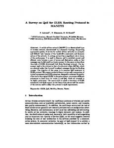 A Survey on QoS for OLSR Routing Protocol in ...