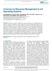 A Survey on Resource Management in IoT Operating Systems