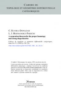 A suspension theorem for the proper homotopy and strong ... - Numdam