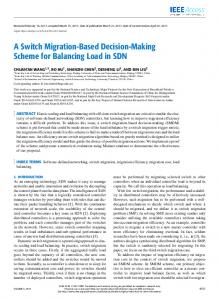 A Switch Migration-Based Decision-Making Scheme for ... - IEEE Xplore