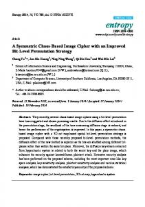 A Symmetric Chaos-Based Image Cipher with an ... - Semantic Scholar