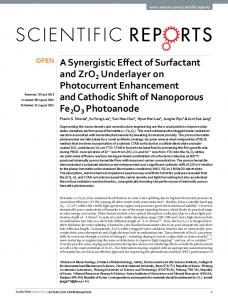 A Synergistic Effect of Surfactant and ZrO2