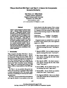 A System for Interpretable Semantic Similarity - Association for ...