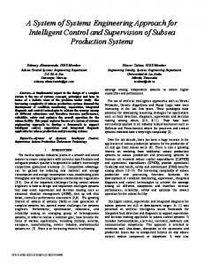 A System of Systems Engineering Approach for Intelligent Control and