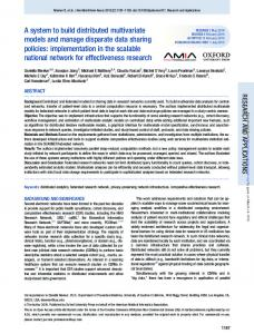 A system to build distributed multivariate models and ...