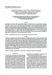 A Systematic Approach of Rock Slope Stability Assessment - UKM