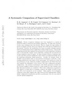 A systematic comparison of supervised classifiers