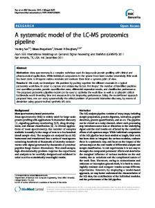 A systematic model of the LC-MS proteomics pipeline - ScienceOpen
