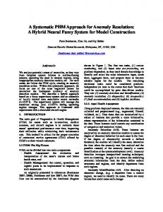 A Systematic PHM Approach for Anomaly Resolution: A ... - PHM Society