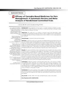 A Systematic Review and Meta- Analysis of ... - Pain Physician