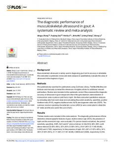A systematic review and meta-analysis - PLOS