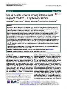 a systematic review - Globalization and Health