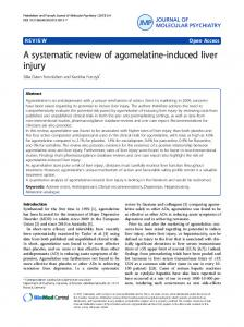 A systematic review of agomelatine-induced liver injury - Core