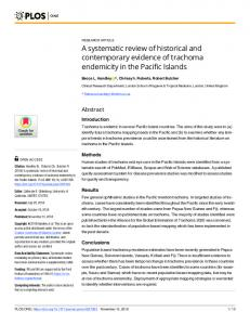 A systematic review of historical and contemporary evidence of ... - PLOS