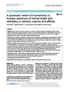 A systematic review of interventions to increase ... - Systematic Reviews
