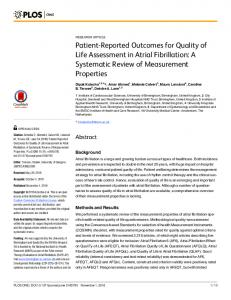 A Systematic Review of Measurement Properties - PLOS