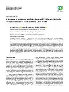 A Systematic Review of Modifications and Validation Methods for the