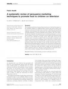 A systematic review of persuasive marketing ... - Wiley Online Library