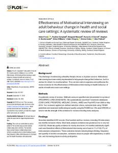 A systematic review of - PLOS