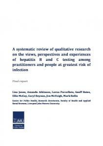 A systematic review of qualitative research on the views, perspectives ...