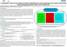 A systematic review of the empirical evidence identifying the unmet ...